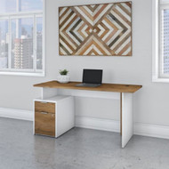 "Bush Business Furniture Jamestown 60"" Desk w Drawers - JTN013FWWHSU"