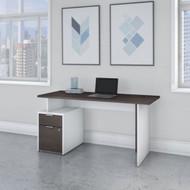 "Bush Business Furniture Jamestown 60"" Desk w Drawers - JTN013SGWHSU"