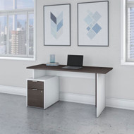"Bush Business Furniture Jamestown 60"" Desk w Drawers - JTN013SGWHSU"
