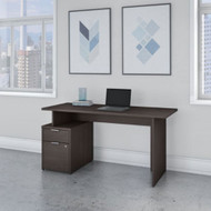 "Bush Business Furniture Jamestown 60"" Desk w Drawers - JTN013SGSU"