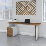 """Bush Business Furniture Jamestown Single Pedestal Desk 72"""" - JTN001FWWHSU"""