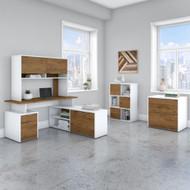 "Bush Business Furniture Jamestown 60""W L-Shaped Desk Package - JTN024FWWHSU"