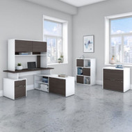 "Bush Business Furniture Jamestown 60""W L-Shaped Desk Package - JTN024SGWHSU"