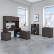 "Bush Business Furniture Jamestown 60""W L-Shaped Desk Package - JTN024SGSU"
