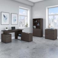 "Bush Business Furniture Jamestown 60""W L-Shaped Desk Package - JTN023SGSU"