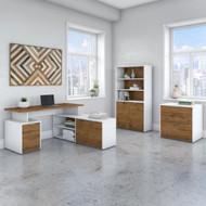 "Bush Business Furniture Jamestown 60""W L-Shaped Desk Package - JTN023FWWHSU"
