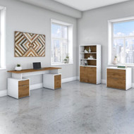 "Bush Business Furniture Jamestown 72""W Desk Package - JTN007FWWHSU"