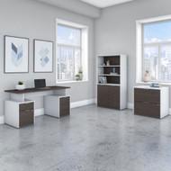 "Bush Business Furniture Jamestown 60""W Desk Package - JTN019SGWHSU"