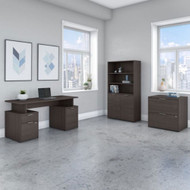 "Bush Business Furniture Jamestown 60""W Desk Package - JTN019SGSU"