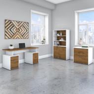 "Bush Business Furniture Jamestown 60""W Desk Package - JTN019FWWHSU"