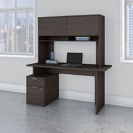 Bush Business Furniture Jamestown 60W Desk with 2 Drawers and Hutch - JTN014SGSU