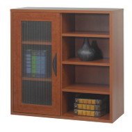 Safco Après Single Door Cabinet with Open Shelves Cherry - 9444CY