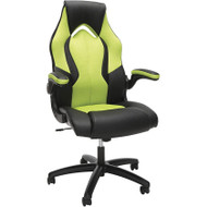 OFM Essentials Racing Style Leather Gaming Chair Green - ESS-3086-GRN