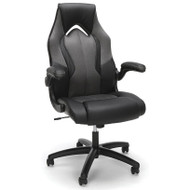 OFM Essentials Racing Style Leather Gaming Chair Gray - ESS-3086-GRY