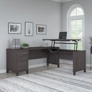"Bush Furniture Somerset 72""W Sit-to-Stand 3-Position L-Shaped Desk Storm Gray - SET014SG"