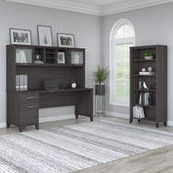 """Bush Furniture Somerset 72""""W with Hutch and Bookcase - SET020SG"""