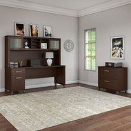 """Bush Furniture Somerset 72""""W Desk with Hutch and Lateral File - SET019MR"""