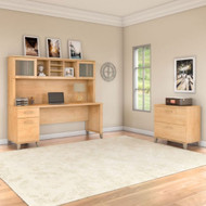 """Bush Furniture Somerset 72""""W Desk with Hutch and Lateral File - SET019MC"""