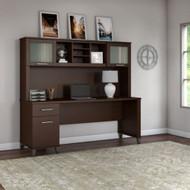 "Bush Furniture Somerset 72""W with Hutch - SET018MR"