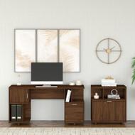 Kathy Ireland by Bush Industries Madison Avenue 60W Desk w Lateral File - MDS006MW