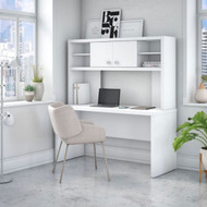 Bush Echo Credenza/Desk with Hutch - ECH030PW