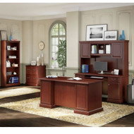 Kathy Ireland by Bush Furniture Bennington Managers Desk Package - BNT002CS
