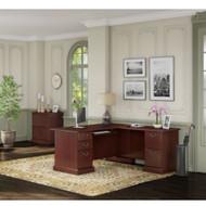 Kathy Ireland by Bush Furniture Bennington L-Shaped Desk Package - BNT009CS