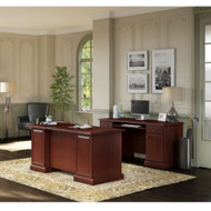 Kathy Ireland by Bush Furniture Bennington Managers Desk and Credenza - BNT006CS