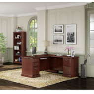 Kathy Ireland by Bush Furniture Bennington L-Shaped Desk Package - BNT010CS