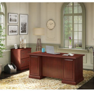 Kathy Ireland by Bush Furniture Bennington Managers Desk and Lateral File - BNT007CS