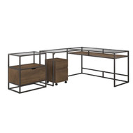 "Bush  Anthropology 60"" L-Shaped Desk Package - ATH022RB"