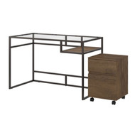 "Bush  Anthropology 48"" Desk with 2-Drawer Mobile File - ATH004RB"
