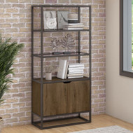 Bush Anthropology 5-Shelf Bookcase with Doors - ATB130RB-03