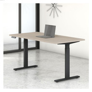 Bush Furniture Move 60 Series 60W x 30D Height Adjustable Table Standing Desk - M6S6030SOBK