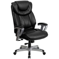 Flash Furniture HERCULES Series Big & Tall LeatherSoft Executive Chair - GO-1534-BK-LEA-GG