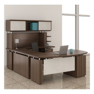 """Mayline Sterling Executive U-Shaped Desk 66"""" with two Pedestals Textured Brown Sugar - STL4-TBS"""