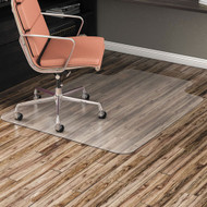 Alera All Day Use Chair Mat for Hard Floors, 36 x 48, Clear - ALEMAT3648HFL
