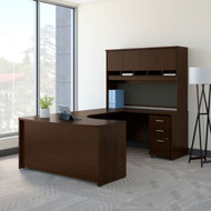 "Bush Business Furniture C Series Executive Bowfront Desk 60"" Package Right Mocha Cherry - SRC092MRSU"