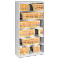 "Tennsco Closed Fixed Six-Shelf Lateral File 36""W Light Gray - TNNFS361L"