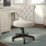 Bush Business Furniture Mid-Back Tufted Office Chair Light Gray - CH2301LGF-03