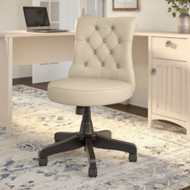 Bush Business Furniture Mid-Back Tufted Office Chair Antique White Leather - CH2301AWL-03
