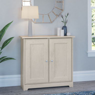 Bush Cabot Collection Storage Cabinet Linen White Oak - WC31196-03