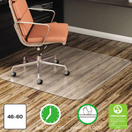 Deflecto All Day Use Chair Mat for Hard Floors, 46 x 60, Rectangular, Clear - DEFCM21442F