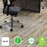 Deflecto Polycarbonate All Day Use Chair Mat - Hard Floors, 46 x 60, Rectangle, Clear - DEFCM21442FPC