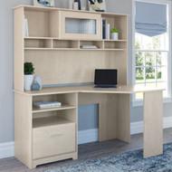 Bush Cabot Collection Corner Desk Package Linen White Oak - CAB008LW