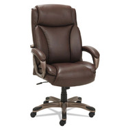 Alera Veon Executive High-Back Leather Chair Bronze Base - VN4159