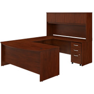 Bush Business Furniture Studio C 72W x 36D U Shaped Desk with Hutch and Mobile File Cabinet Hansen Cherry - STC003HCSU
