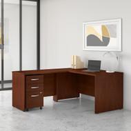 Bush Business Furniture Studio C 60W x 30D L Shaped Desk with Mobile File Cabinet and 42W Return Hansen Cherry - STC008HCSU
