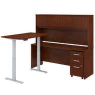 Bush Business Furniture Studio C 72W Height Adjustable Standing Desk with Hutch and Mobile File Cabinet Hansen Cherry - STC018HCSU