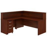 Bush Business Furniture Studio C 72W L Shaped Reception Desk with Shelf and Mobile File Cabinet Hansen Cherry - STC040HCSU